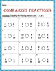 Math: Comparing Fraction using , or =.  3 pages. 12 problems each page.
