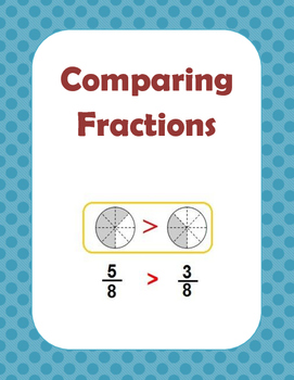 Math: Comparing Fraction using , or =.  3 pages. 12 proble