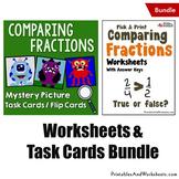 Comparing Fractions With Like Denominator Worksheets, Unlike Denom Bundle