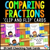 Comparing Fractions Activity: 24 Comparing Fractions Task Cards