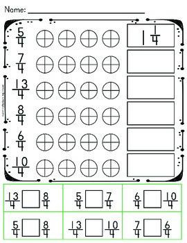 Comparing Fractions - Improper Fractions