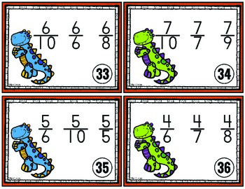 Ordering Fractions Task Cards