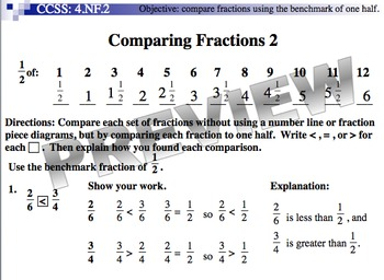 Comparing Fractions 2 (Part of Fractions Unit)