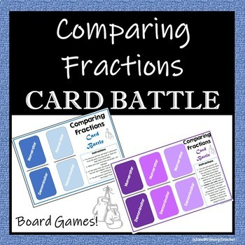 Comparing Fractions - 2 Board Games