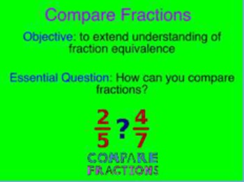 Comparing Fractions Flipchart