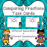 Comparing Fractions with Unlike Denominators Task Cards Activity 4.NF.2