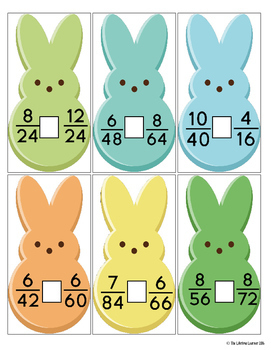 Easter Comparing Fractions Game