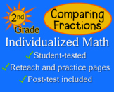 Comparing Fractions, 2nd grade - worksheets - Individualized Math
