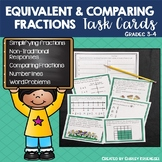 Comparing and Equivalent Fraction Task Cards