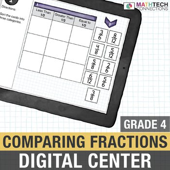 Comparing Fractions  - 4th Grade Digital Interactive Math Center