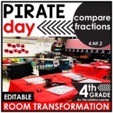 Comparing Fractions 4th Grade | Pirate Room Transformation
