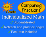 Comparing Fractions, 4th grade - worksheets - Individualized Math