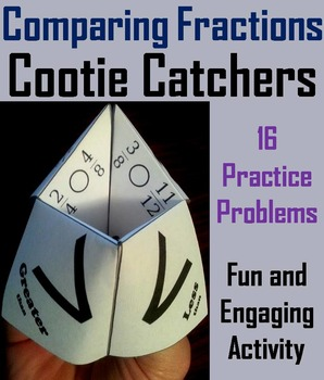Comparing Fractions Practice Activity (Scoot Unit Review G