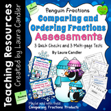 Comparing Fractions Tests (Penguin Fractions)