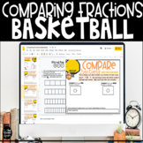 Comparing Fractions Basketball Digital Activity for Distan