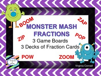 Comparing Fractions Board Game--Monster Mash