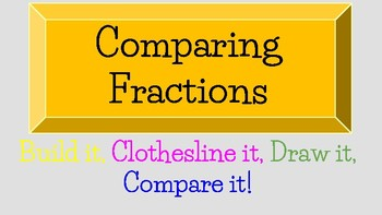 Comparing Fractions: Build it, Clothesline it, Draw it, and Compare it.