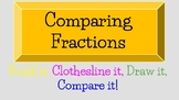 Comparing Fractions: Build it, Clothesline it, Draw it, an