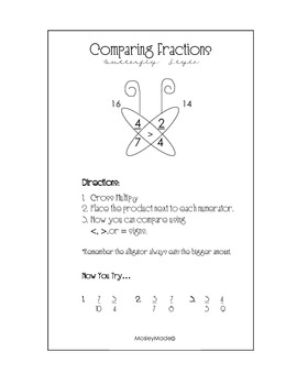 Comparing Fractions: Butterfly Style