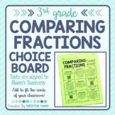 Comparing Fractions Choice Board - 3rd Grade, Editable