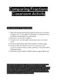 Comparing Fractions Class Activity