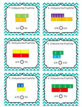 Comparing Fractions Common Core Aligned 3.NF.3