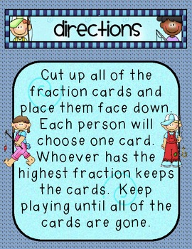 Comparing Fractions- Common Core MathGame