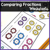 Fractions - Comparing Fractions- Complete Set - Spring/Earth Day Theme