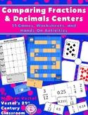 Comparing Fractions & Decimals Centers