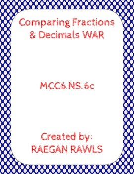Comparing Fractions & Decimals WAR