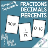 Comparing Fractions, Decimals, and Percents Card Game