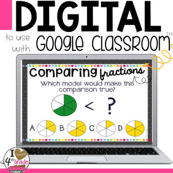 Comparing Fractions Digital Task Cards for Google Classroom