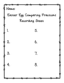 Comparing Fractions Easter Egg Scavenger Hunt FREEBIE