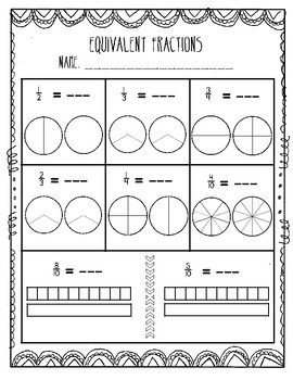 Comparing Fractions & Equivalent Fractions