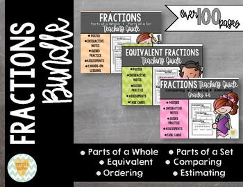Comparing Fractions & Equivalent Fractions Bundle