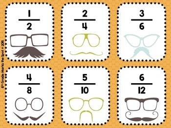 Comparing Fractions & Equivalent Fractions Moustache Edition 3.NF.2 & 4.NF.2**