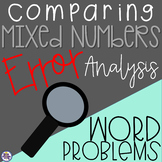 Comparing Mixed Numbers and Improper Fractions Error Analysis Word Problems
