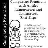 Comparing Fractions (TEKS 4.3D, CCSS.4.NF.A.2) Exit Slips
