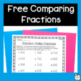 Comparing Fractions Worksheets ~ FREEBIE! ~ NO PREP!