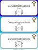 Comparing Fractions With Same Denominators or Same Numerators Game {3.NF.3D}