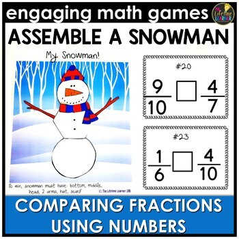 Comparing Fractions Numbers Version Game