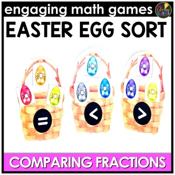 Easter Math Game - Comparing Fractions