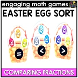 Comparing Fractions Game April Math Centers