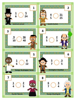 Comparing Fractions Game & Match including QR codes