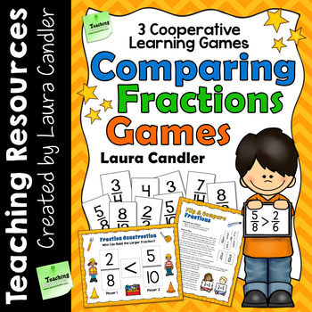 Comparing Fractions with Unlike Denominators - 3 Cooperative Learning Games