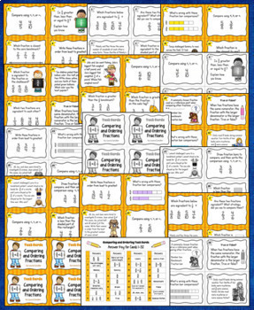 Comparing Fractions Mega Bundle: Games, Lessons, Task Cards, and Assessments