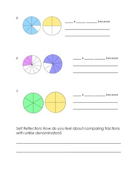 Comparing Fractions Guided Practice