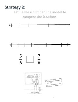 Comparing Fractions Guided Practice Worksheet 3