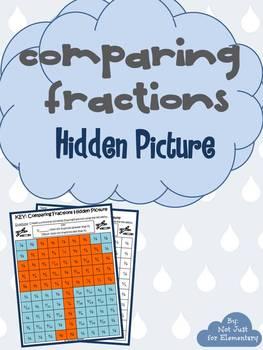 Comparing Fractions: Hidden Umbrella Picture