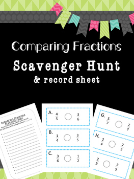 Comparing Fractions Scavenger Hunt
